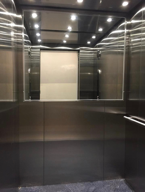 New Mirror in elevator