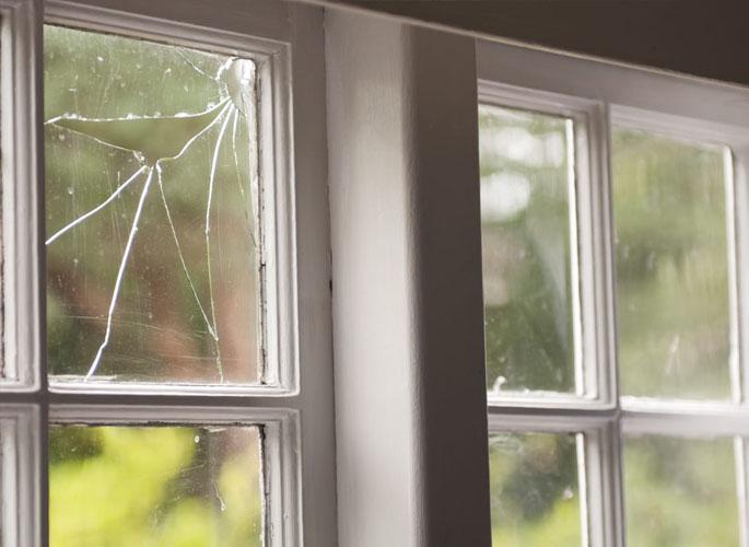 Broken Glass of a window