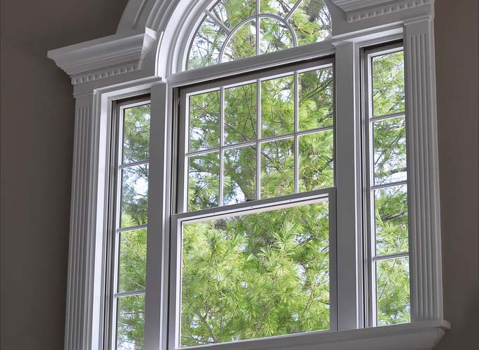 Beautiful white window frame