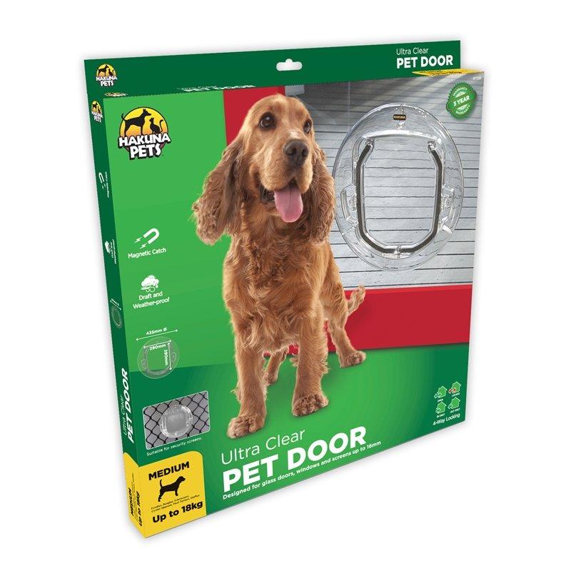 Hakuna Pets brand Ultra Clear Pet Door box